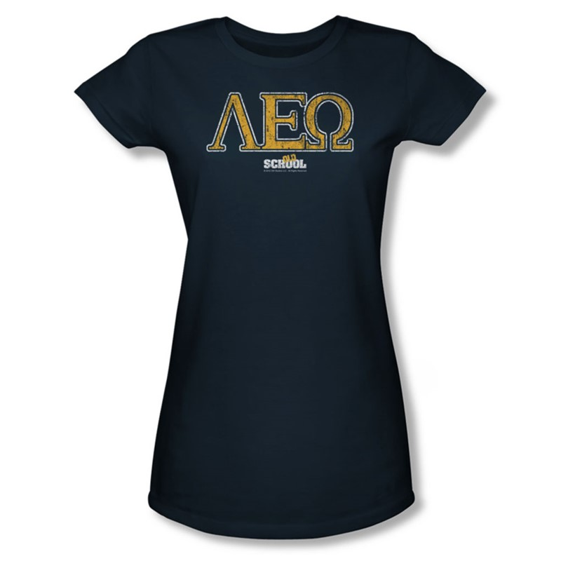 Old school womens leo t shirt in navy for Old navy school shirts