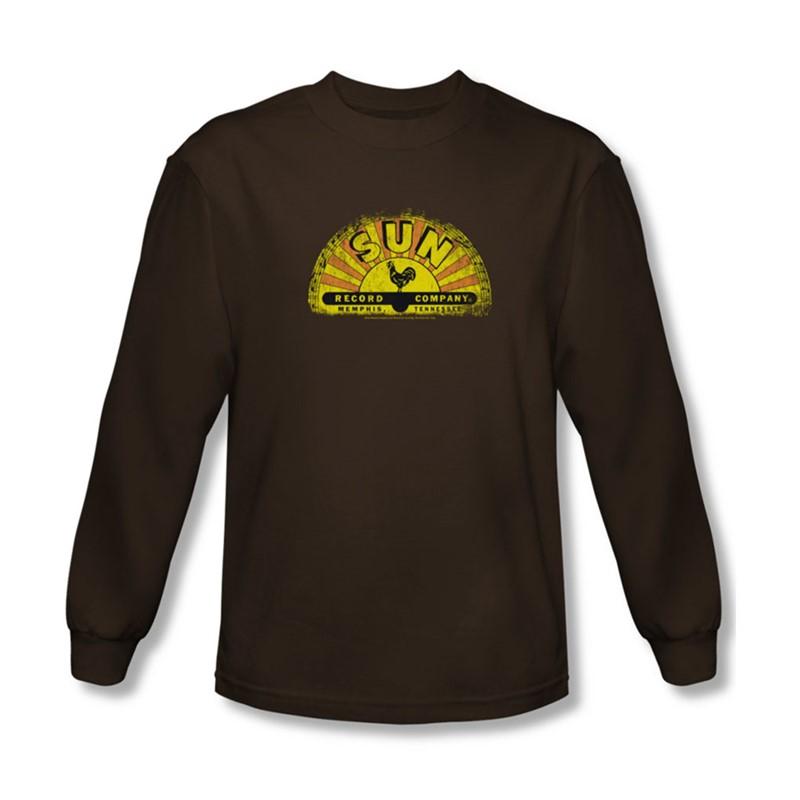 Sun Mens Vintage Logo Long Sleeve Shirt In Coffee