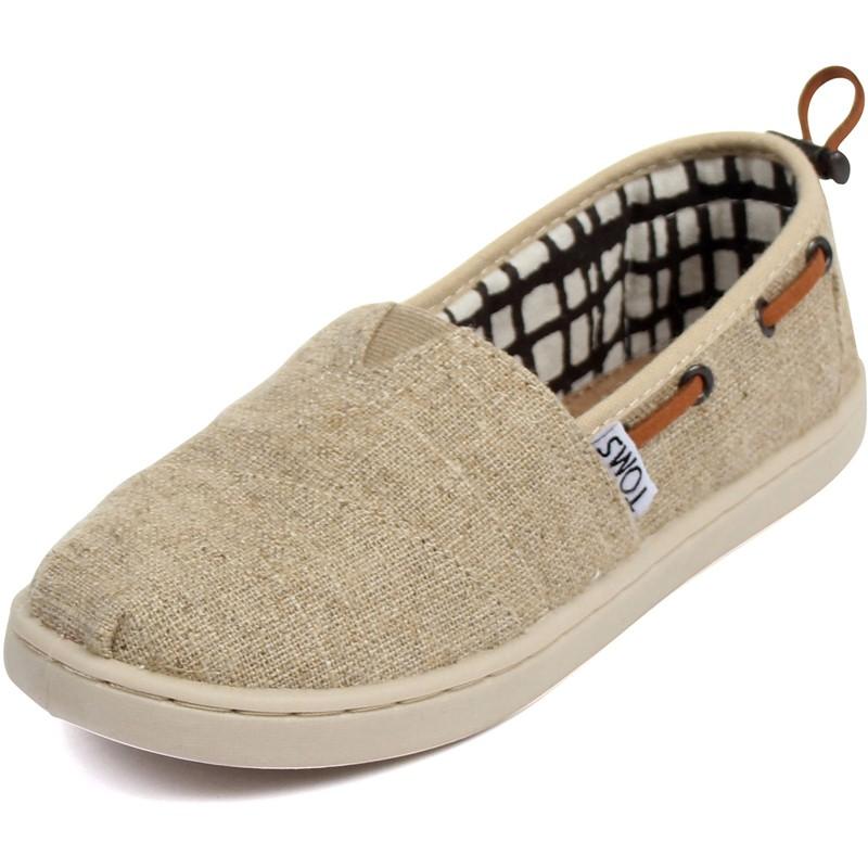 Toms - Youth Natural Burlap Bimini Shoes