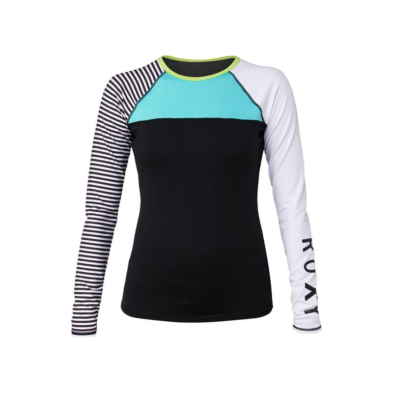 roxy womens neon tide long sleeve surf t shirt