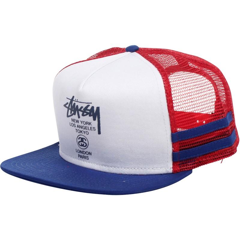 0e75468461b Stussy. Stussy - City Striped Trucker Hat