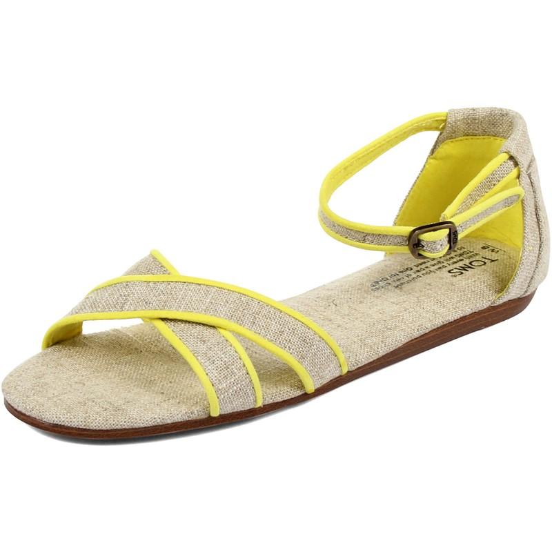 3bc3847cf9e Toms - Womens Sandals In Neon Trim Burlap