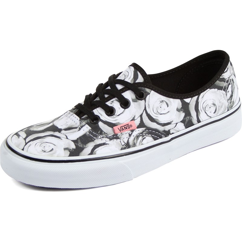 9b9bd96e76 Vans - Unisex Authentic Shoes in (Digi Roses) Black True White
