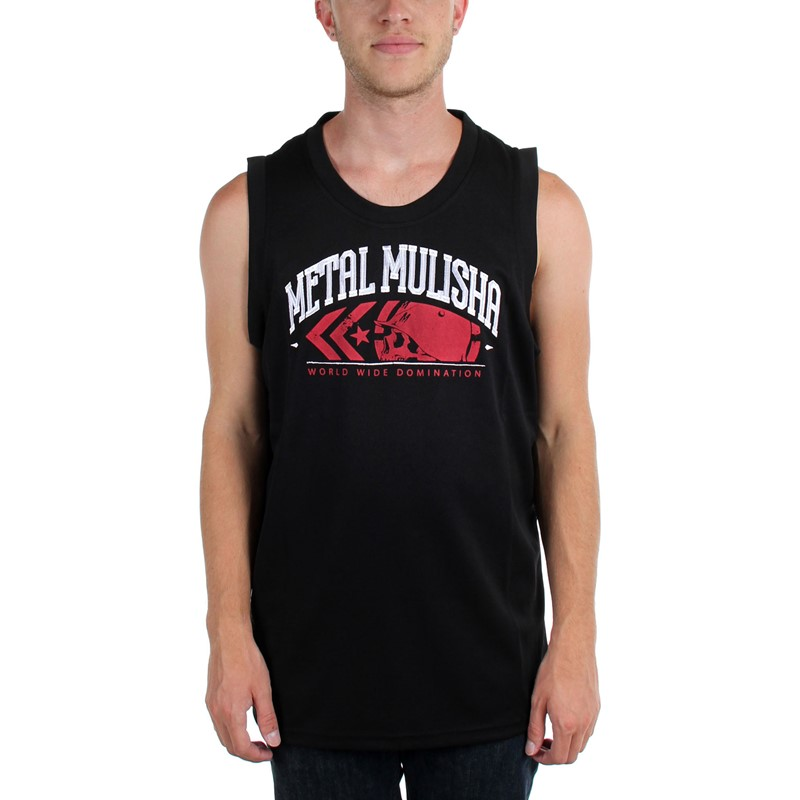6f51dfb06b67ac Metal Mulisha - Mens The Crew Jersey Tank Top