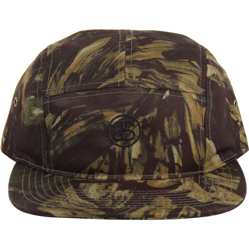 Stussy - Unisex-Adult Leaves Camo Camp Snapback Hat 9603909dd1b