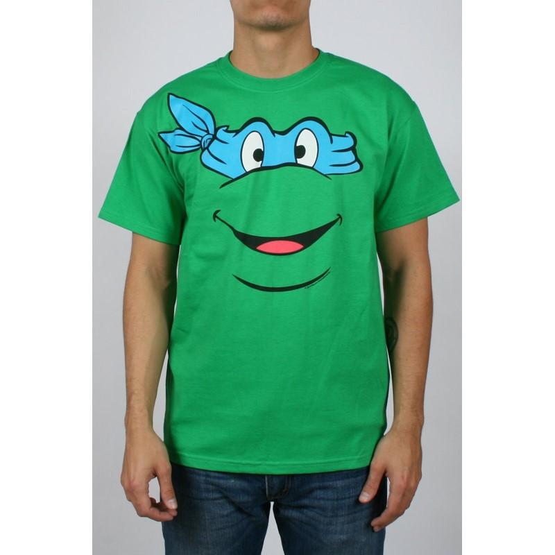 Teenage Mutant Ninja Turtles Leonardo Face Mens T Shirt