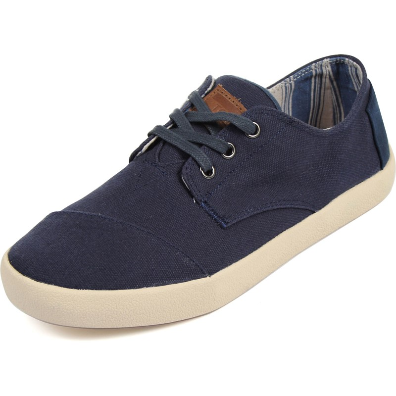 f7c10bfb117 Toms - Mens Paseo Shoes In Navy Canvas