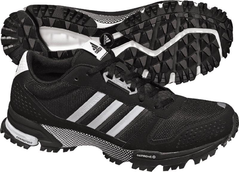 Adidas maratona tr 10 m uomini scarpe in nero / in bianco