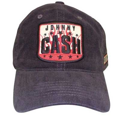 Johnny Cash - Outlaw Corduroy unisex-adult Hat in Charcoal 90fad5190d9