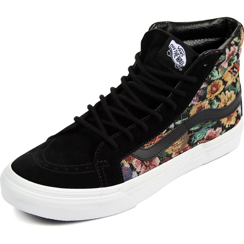 741ee98e51 Vans. Vans - Unisex Sk8-Hi Slim Shoes in (Tapestry Floral) Black