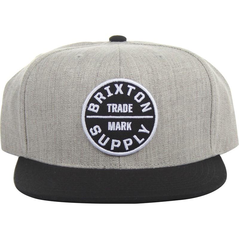 e70685119cb Brixton. Brixton - Mens Oath Iii Snapback Hat in Heather Grey Black