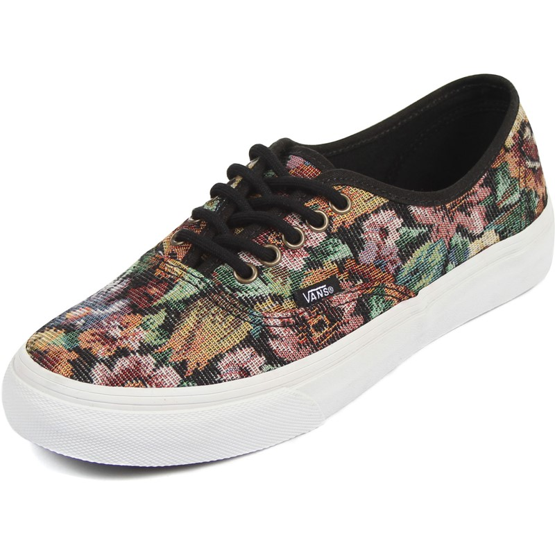 a604cc0a56c22c Vans - Unisex Authentic Slim Shoes in (Tapestry Floral) Black