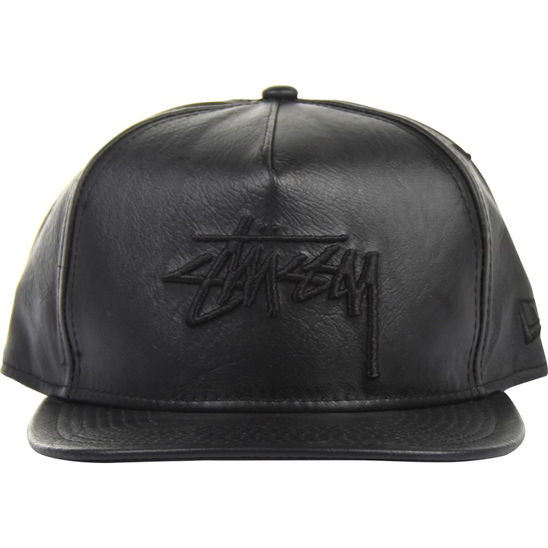 Stussy. Stussy - Stock New Era Leather Snapback Hat 6d2502390ad