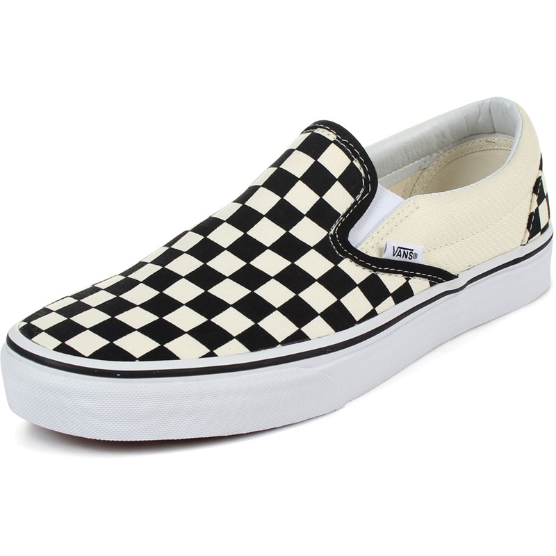 05c466576d9 Vans - Unisex Adult Classic Slip-On Shoes In Black White Checkered