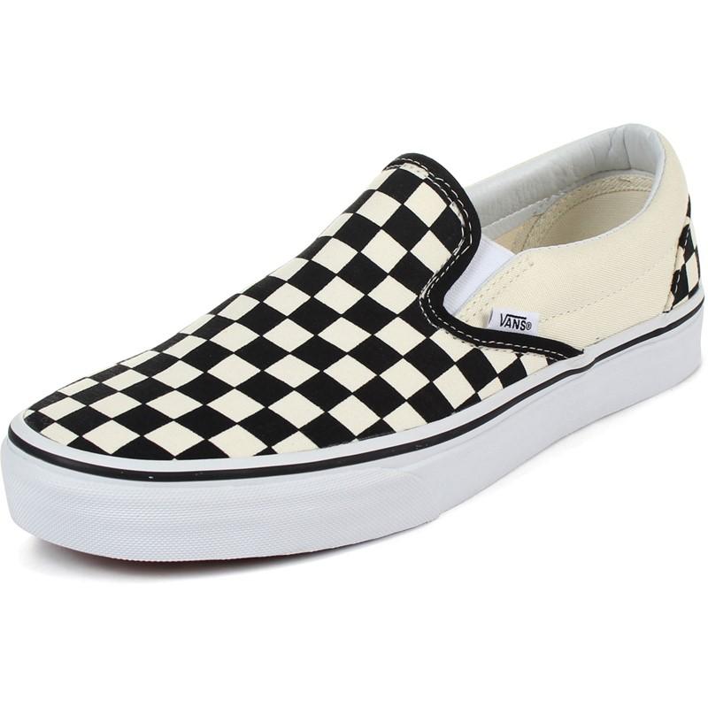 Vans - Unisex Adult Classic Slip-On Shoes In Black/White ...  Vans - Unisex A...
