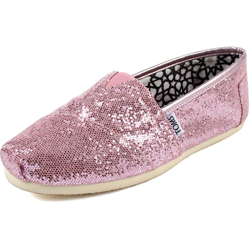 e47c9c88b10 Toms - Womens Classic Canvas Slipon Shoes in Pink Glitter