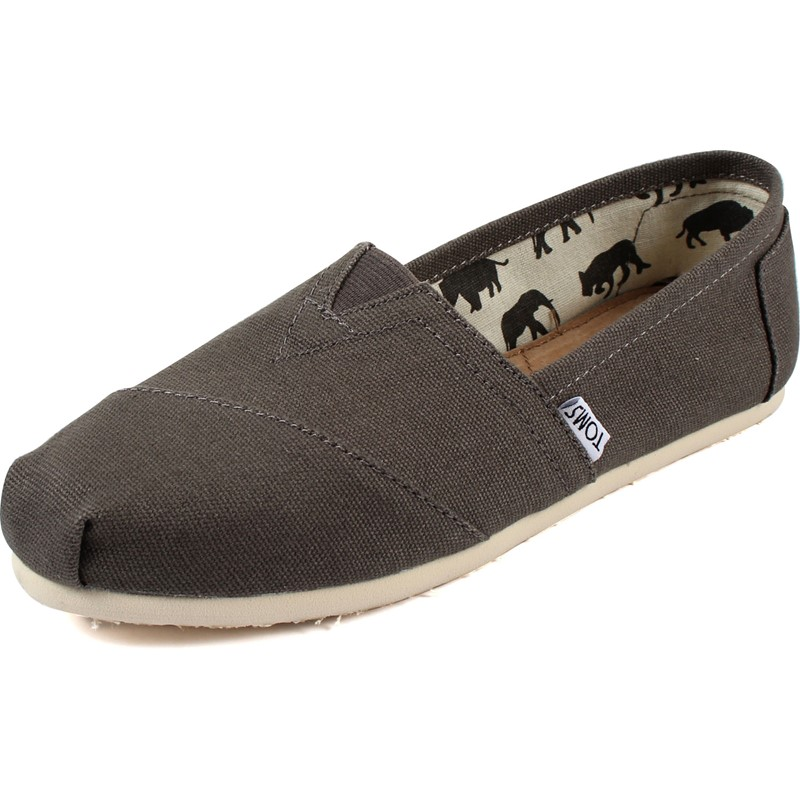 Womens Classic Canvas Slipon Shoes in Grey