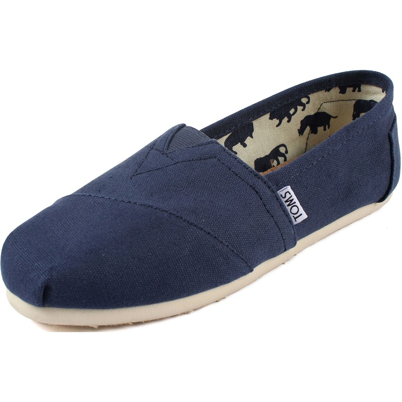 4871f6680a0 Toms - Womens Classic Canvas Slipon Shoes in Navy Canvas