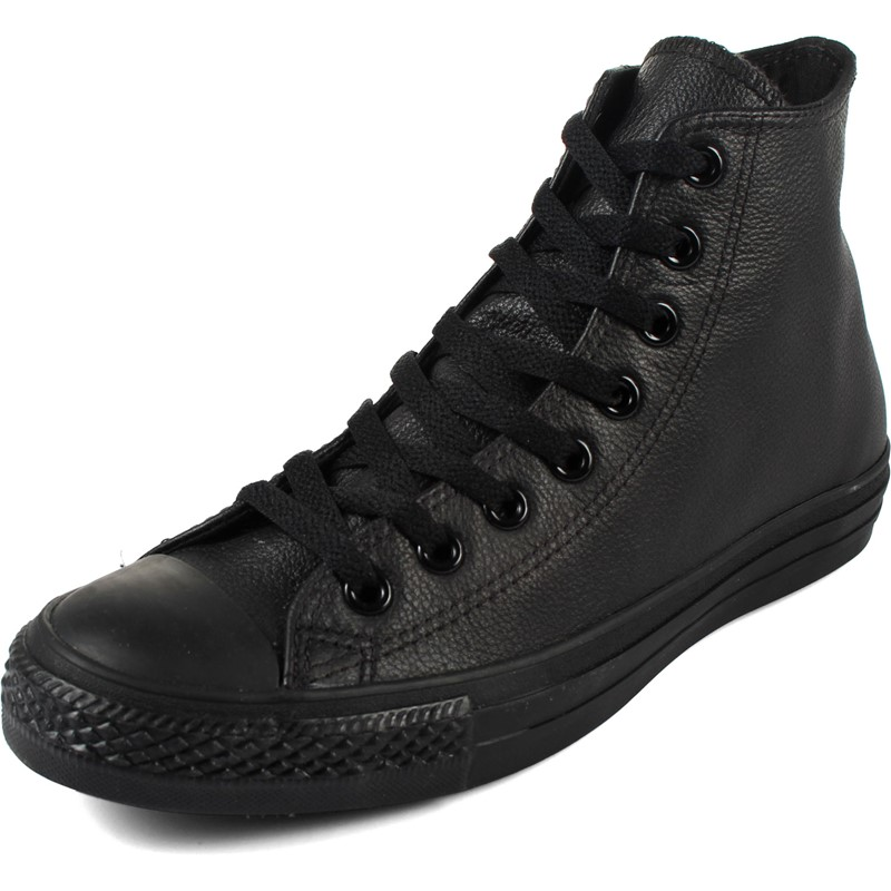 48f161cdc9e3 Converse. Converse Chuck Taylor All Star Shoes (1T405) Leather Hi Black  Monochrome
