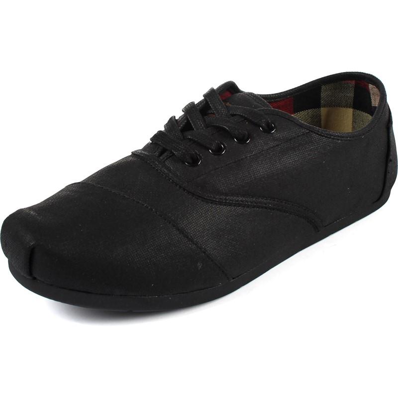 5458b709971 Toms - Mens Waxed Twill Cordones in Black