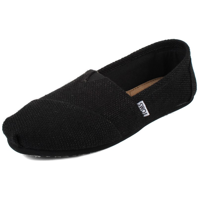 bac1c6adc0e Toms - Womens Black Burlap Woven Shoes
