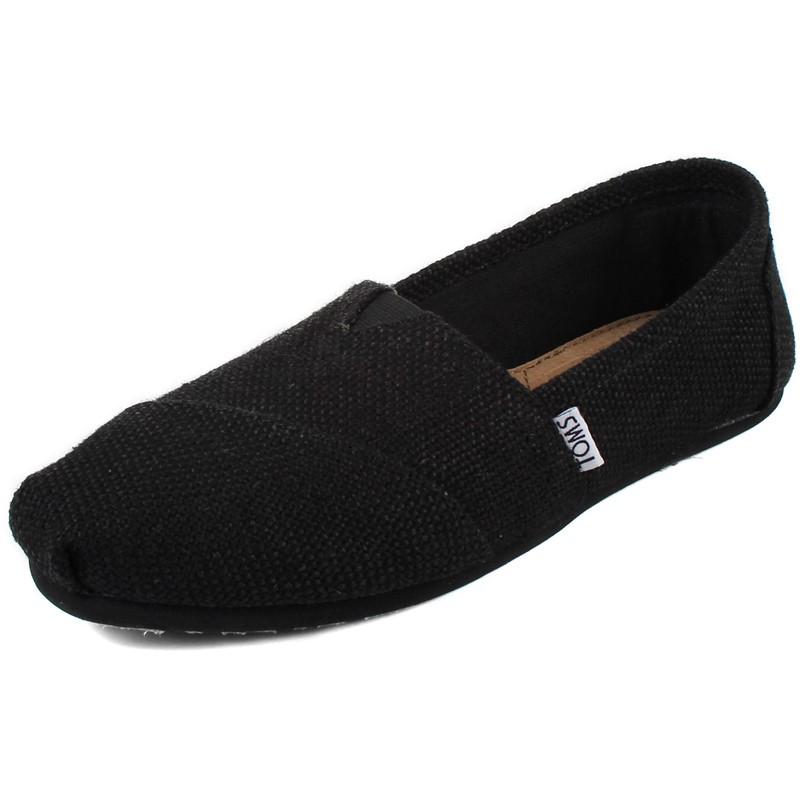 Toms - Womens Black Burlap Woven Shoes
