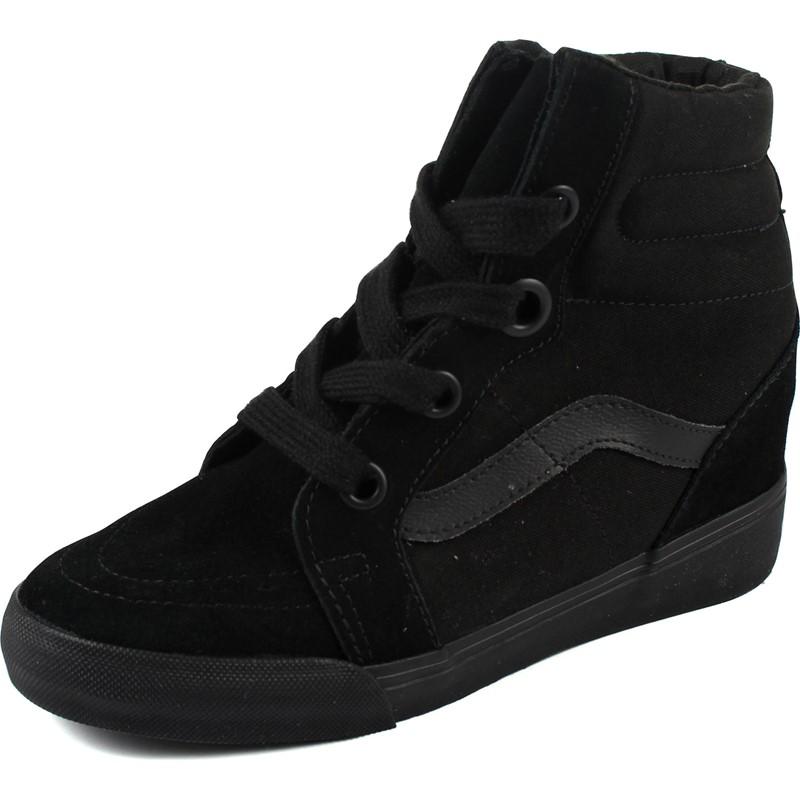 Vans - Womens Sk8-Hi Wedge Shoes in Black Black 3418ba085a28