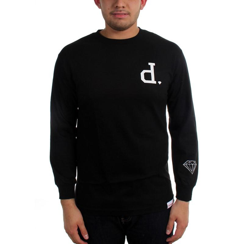 Diamond supply co mens un polo long sleeve shirt for Diamond supply co polo shirts