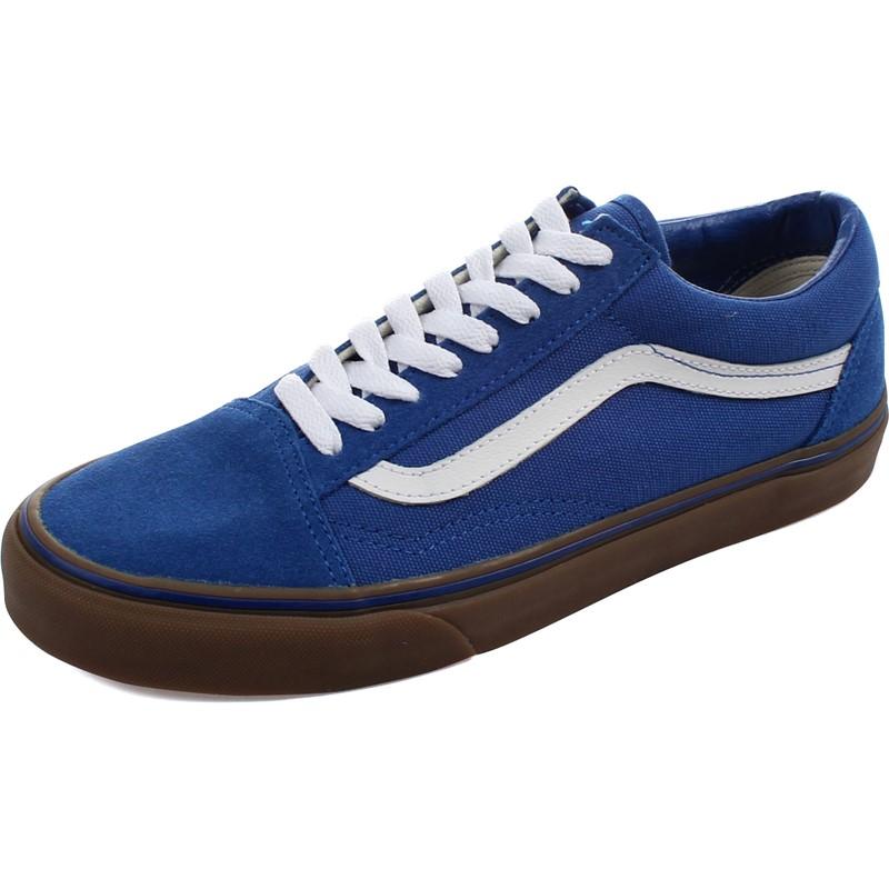old skool vans gumsole olympian blue