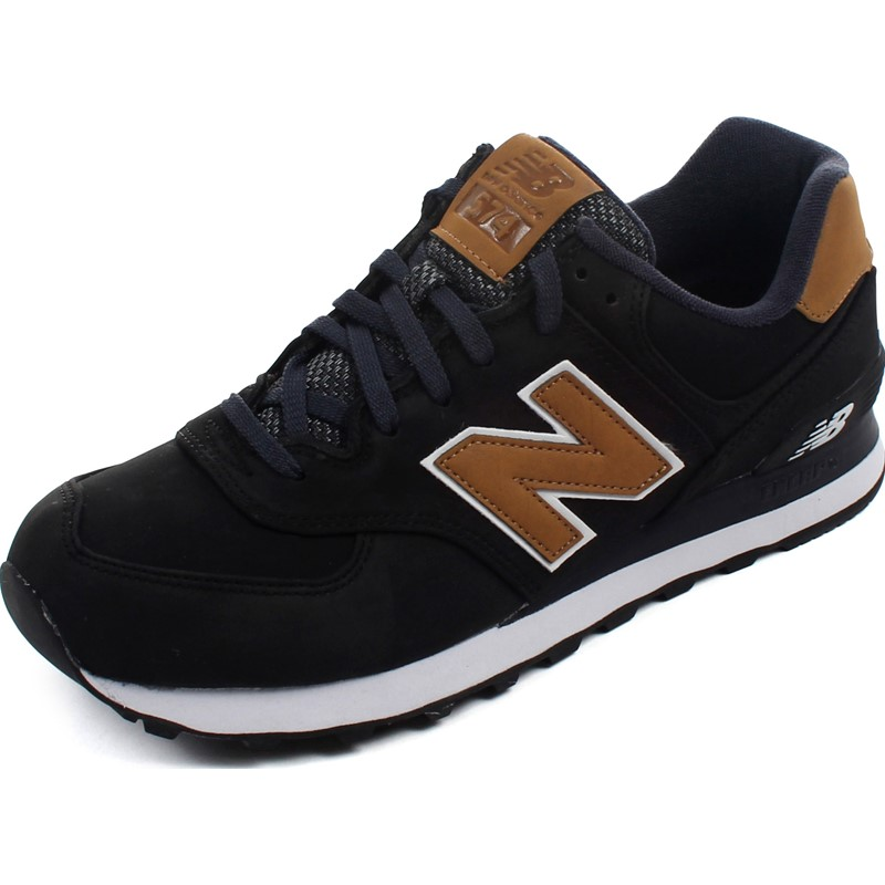 half off 3d84d 7b534 New Balance - Mens ML574SLA Black Lux Shoes
