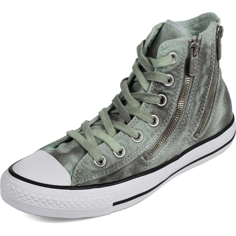 Converse Womens Black Wash Chuck Taylor All Star Dual Zip Shoes