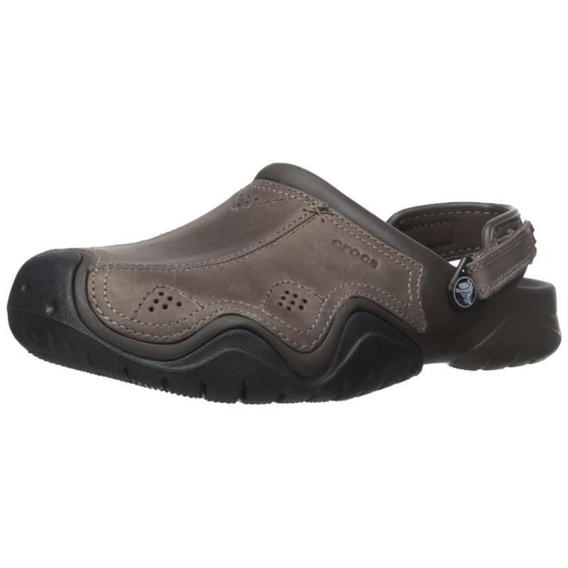 sprzedawca detaliczny kupować tanio najwyższa jakość Crocs - Mens Swiftwater Leather Clog