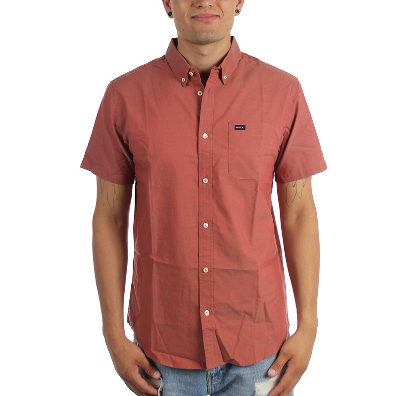 4c492b375bb RVCA. RVCA - Mens That'll Do Oxford Short Sleeve Button Down Shirt