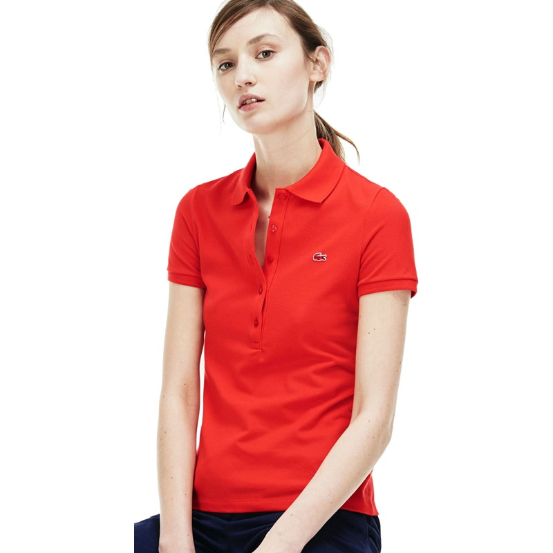 f45ac6a26 Lacoste. Lacoste Women s Short-Sleeve Stretch Pique Slim-Fit Polo Shirt