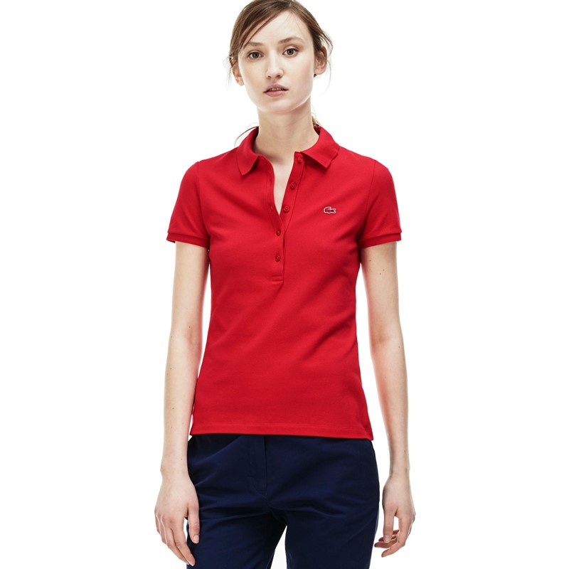 daa40c745 Lacoste. Lacoste Women s Short-Sleeve Stretch Pique Slim-Fit Polo Shirt