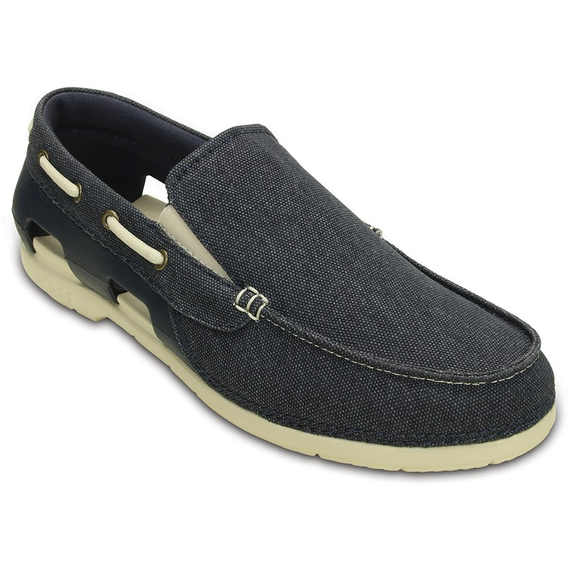 f4b03790b71a56 Crocs. Crocs - Men s Beach Line Canvas M Boat Shoe