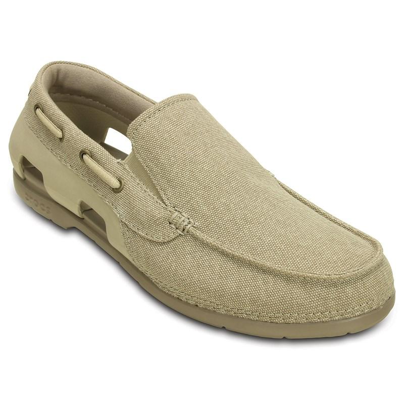 e1a002319 Crocs. Crocs - Men s Beach Line Canvas M Boat Shoe