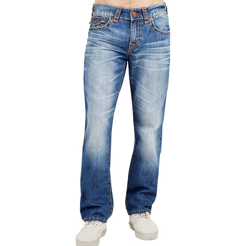 935aac8ef True Religion. True Religion - Mens Ricky Super T Straight Jeans With Flap