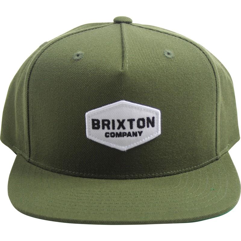 b2465403131 Brixton - Unisex-Adult Obtuse Snapback Hat - Olive 888588215579
