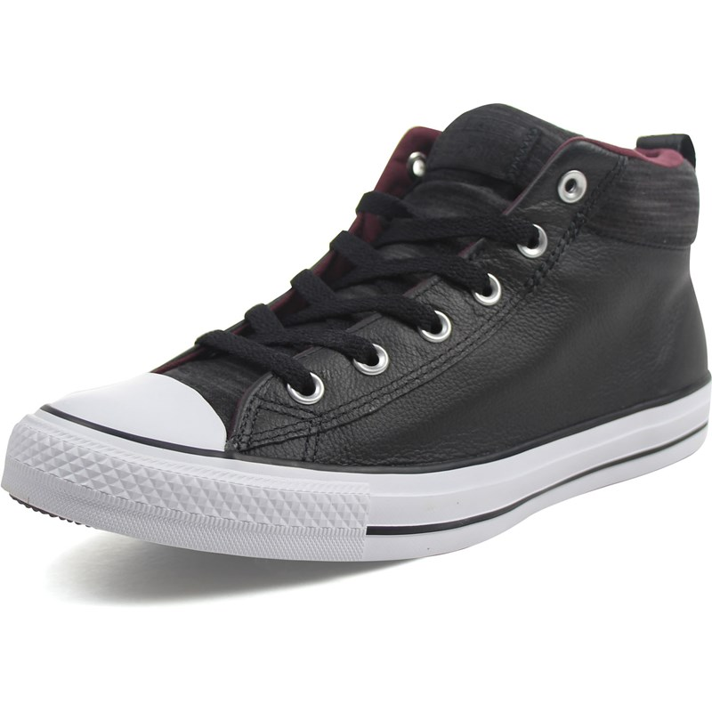 f890f3c8af4f Converse - Unisex Leather Chuck Taylor All Star Street Mid Shoes