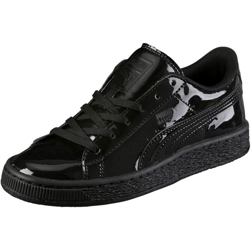 basket puma patent sneakers