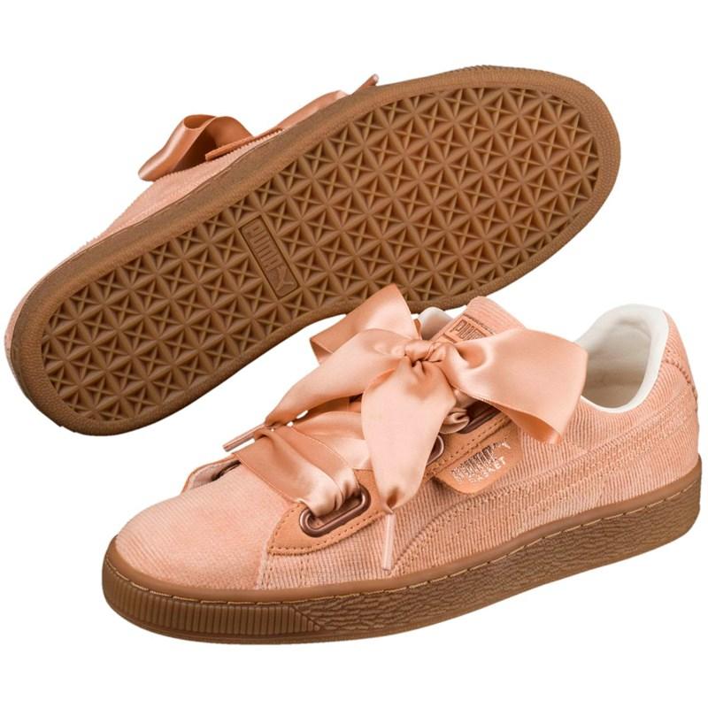 11aeafd85afa0 Puma. PUMA - Womens Basket Heart Corduroy Shoes