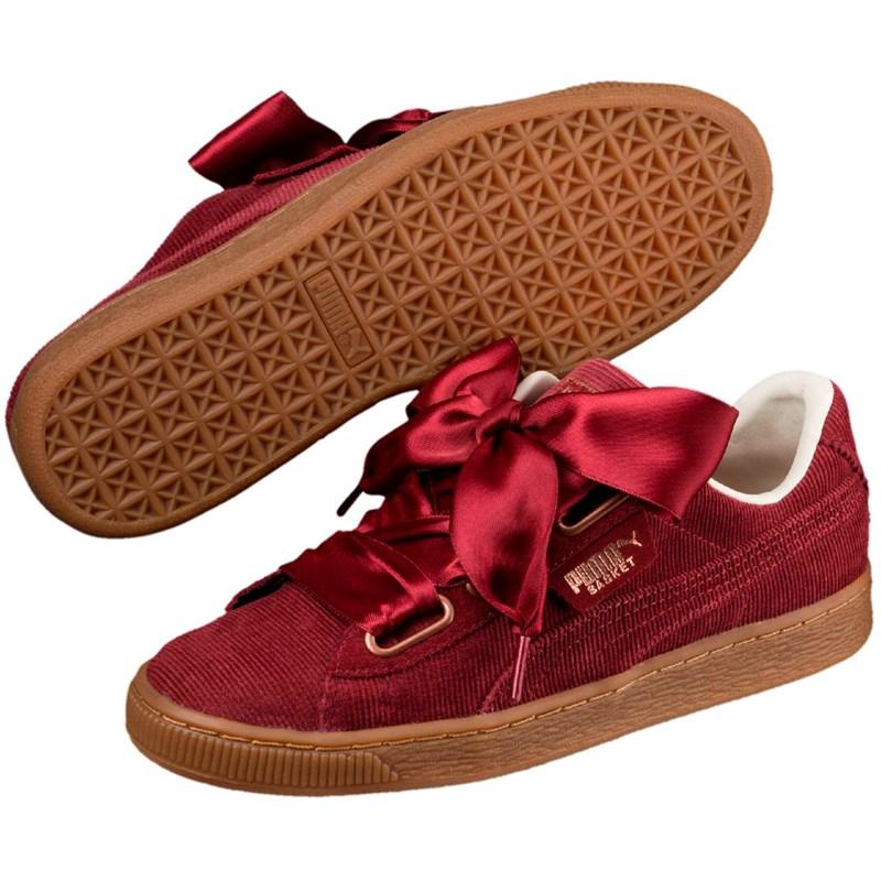 0d8548e1fc84f5 Puma. PUMA - Womens Basket Heart Corduroy Shoes