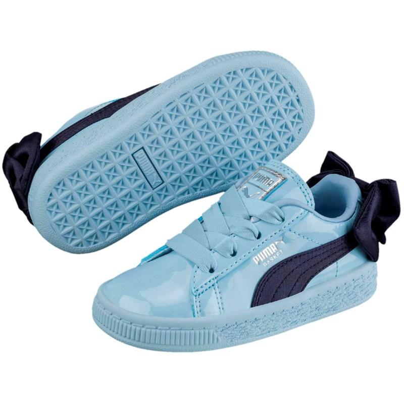 premium selection c99cd 79f25 PUMA - Pre-School Basket Bow Patent Ac Shoes
