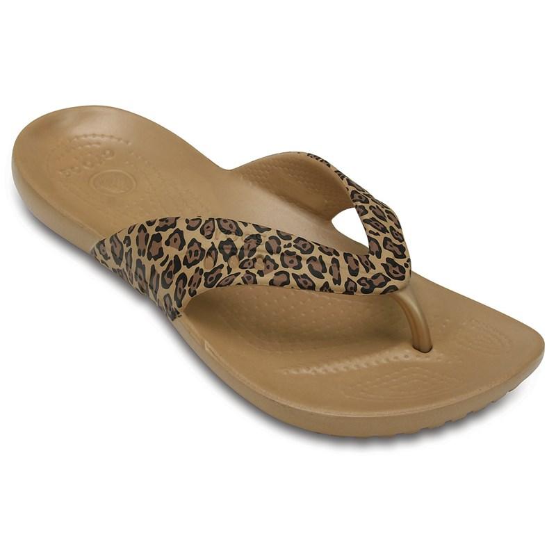 84e5d60ad8ee98 Crocs. Crocs - Womens Kadee Leopard Print Flip-flop Sandals