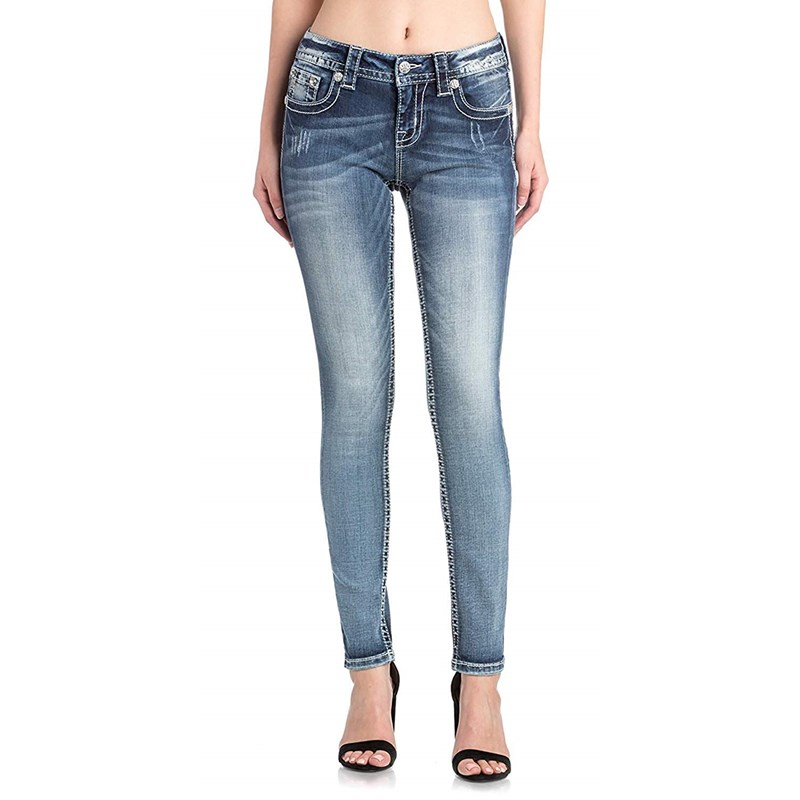 5bd6a966f94a1 Miss Me - Womens Hailey Skinny Jeans In Wash  K913