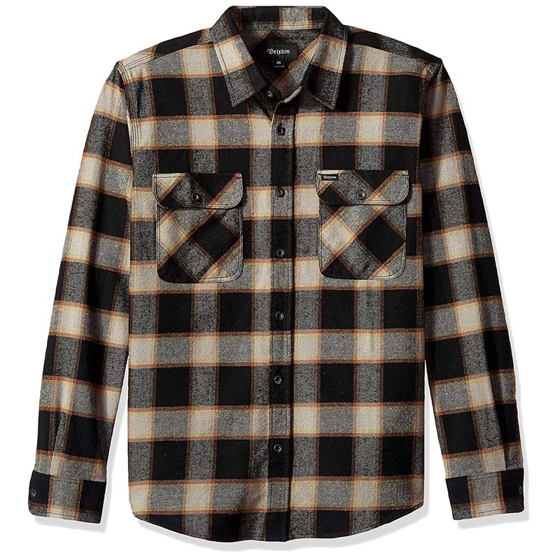 Brixton - Mens Bowery Flannel Woven c1eabaaf4