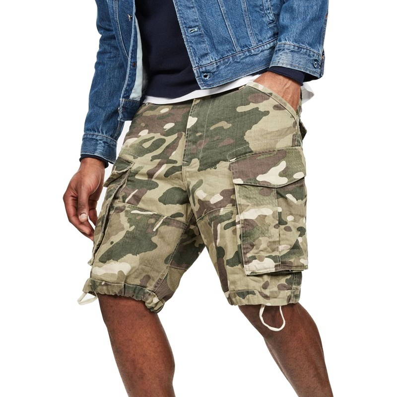 Efterstræbte G-Star - Mens Rovic Nozzle Camo Relaxed Shorts FV-92